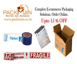 packman.co.in 15% Off on packaging material
